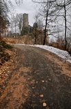 Castle ruins. Photo of castle ruins in a forest Royalty Free Stock Photo