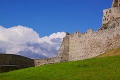 Castle ruins. Ruins of Spis Castle, Slovakia Stock Photo