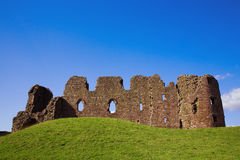 Castle ruins. Brough Castle in Cumbria, UK Royalty Free Stock Images