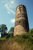 Castle ruins. Ruins of old Czech castle - just tower has left stock photography