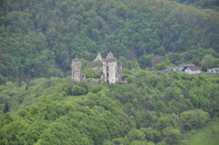 Castle ruins. The ruins of the ancient castle in the forest Stock Photo