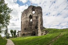 Castle ruins in Buchach, Ternopil oblast, Ukraine. Buchach castle ruins, Ternopil oblast, Ukraine. Dating to 14th century Royalty Free Stock Images