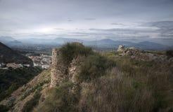 Castle Ruins Cártama, Málaga. Archaeological remains of the old Almohad castle Cártama in the province of Málaga Stock Images