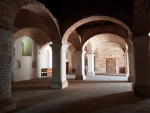 Castle ruins. Fortress indoor gothic royalty free stock photo