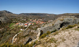 Castle ruins of Castro Laboreiro Stock Photography