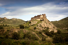 Castle ruins in Catalonia Royalty Free Stock Photos