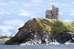 Castle ruins on the cliff Stock Photography