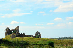 Castle ruins, Clonmacnoise, Ireland Stock Photography