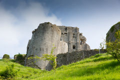Castle ruins Corfe Dorset England Purbeck Hills Stock Photo