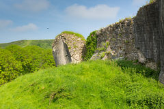 Castle ruins Corfe Dorset England Purbeck Hills Royalty Free Stock Photography