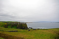 Castle ruins, Dunluce, Northern Ireland Royalty Free Stock Photo