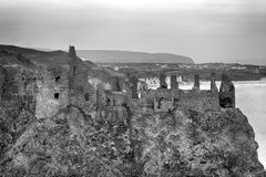 Castle ruins, Dunluce, Northern Ireland Stock Images
