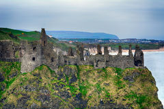 Castle ruins, Dunluce, Northern Ireland Stock Photography