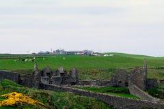 Castle ruins, Dunluce, Northern Ireland Stock Photos