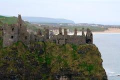 Castle ruins, Dunluce, Northern Ireland Stock Photo