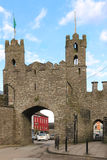 Castle ruins. Entrance Arch. Macroom. Ireland Stock Photos