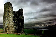 Castle Ruins - Essex UK. Medieval castle ruins overlooking the Thames estuary in Essex UK Royalty Free Stock Image