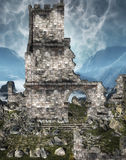 Castle Ruins. A castle ruins fantasy background Stock Image