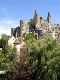 Castle ruins in France Royalty Free Stock Photo