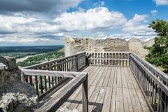 Castle ruins of Hainburg an der Donau, Austria Stock Image