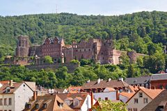 Castle ruins from Heidelberg Royalty Free Stock Photography