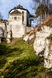 Castle ruins on a hill top in Ojcow, Poland Stock Photo