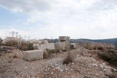 Nimrod castle and Israel landscape Stock Image