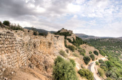 Castle ruins in Israel Stock Photos