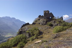 Castle ruins in Italy, Aosta Royalty Free Stock Image