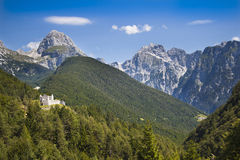 Castle ruins in Julian Alps, Slovenia Stock Images