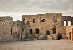 Castle ruins in Kazimierz Dolny. Poland Stock Photos