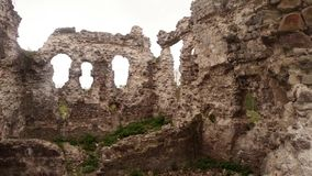 Castle ruins of the knights of Templar the oldest in Transcarpathia stock footage