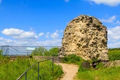Castle Ruins of Kronenburg in Eifel, Germany Stock Image