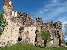Castle ruins in Latvia Royalty Free Stock Image