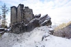 Castle ruins in Liechtenstein Royalty Free Stock Photos