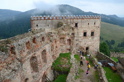 Castle ruins. (Lubovna in Slovakia Stock Photo