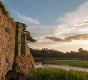 Castle ruins McCarthy Mor on Lake Lough Leane at Killarney on the Ring of Kerry in Ireland. IRE royalty free stock photography