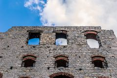 Castle ruins. The ruins of a medieval castle royalty free stock image