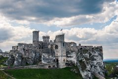 Castle ruins. The ruins of a medieval castle Stock Image