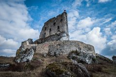 Castle ruins. The ruins of a medieval castle royalty free stock images