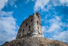 Castle ruins. The ruins of a medieval castle Royalty Free Stock Photography