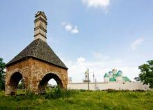 Castle ruins in Mezhirich Stock Image