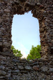 Castle ruins Nevitsky Royalty Free Stock Images