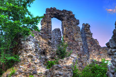 Castle ruins Nevitsky Royalty Free Stock Photo