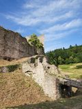 Castle ruins in Oberkirch Royalty Free Stock Photography