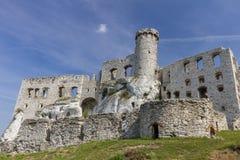 Castle ruins in Ogrodzieniec - Poland Stock Photo