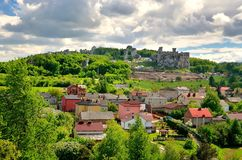Castle ruins in Ogrodzieniec, Poland. royalty free stock photo