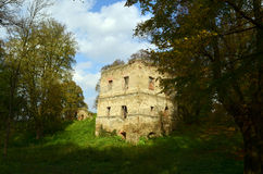 Castle. Ruins of the old castle Royalty Free Stock Image