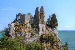 Castle Ruins. The ruins of the old Duino Castle near Trieste, Italy Royalty Free Stock Image