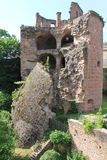 Castle ruins. Old Castle ruins in Heidelberg castle, germany. Koenigsstuhl Royalty Free Stock Photos